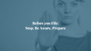 Before you file
